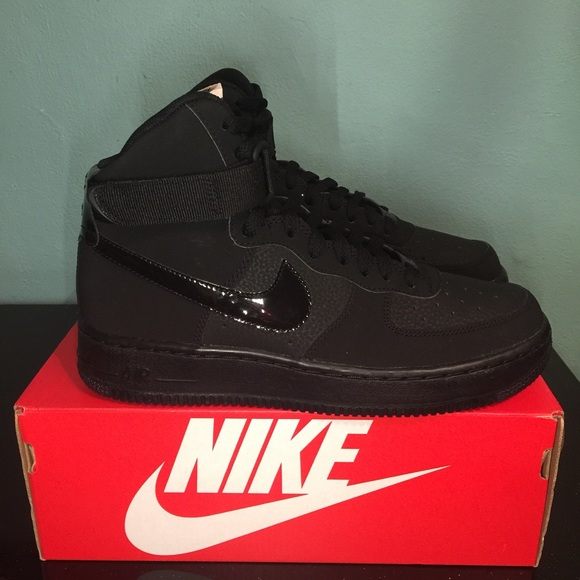 brand new ed44a 166fe Nike Air Force 1 High Top Patent Leather Black